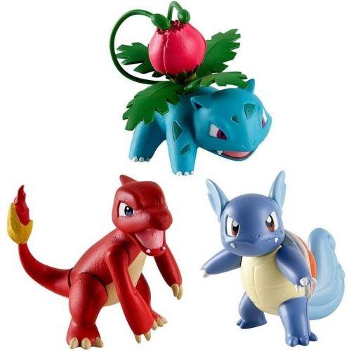 Tomy Pokémon set akčních figurek Ivysaur, Charmeleon & Wartortle