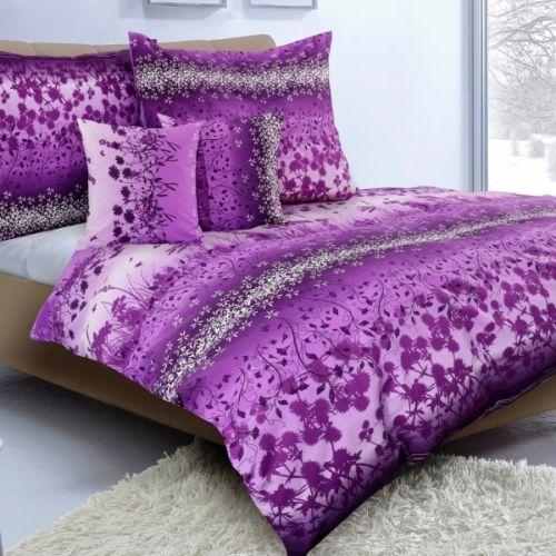 Staňková Karoline fialová romantika krepové Povlečení