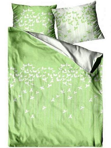 Greno Spring zelené bavlněný satén povlečení