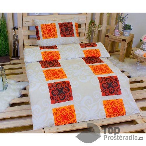 TP Orient oranžové Bavlněné povlečení
