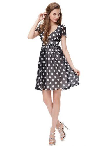 Ever Pretty letní šaty puntíkaté