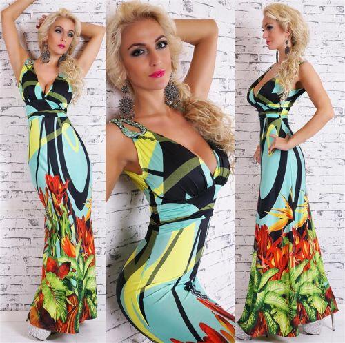 Queen O.F. dlouhé šaty nevšední zelené