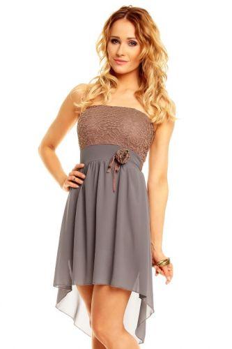 Made in Italy A Šaty do tanečních asymetrická sukně