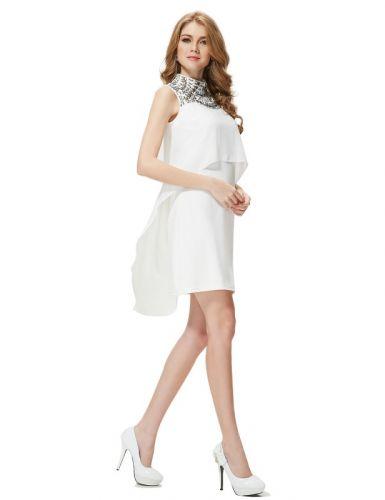 Ever Pretty šaty krátké bílé volné