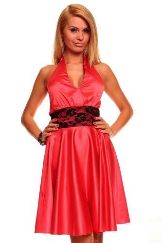A Mayaadi červené šaty s krajkou do tanečních