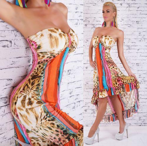 Queen O.F. šaty s vlečkou a volánky