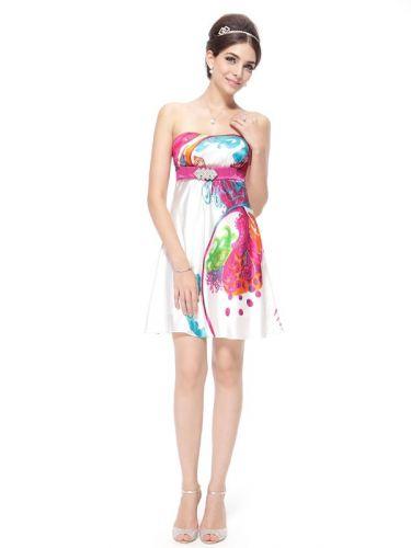 Ever Pretty Luxusní šaty satén originální vzory