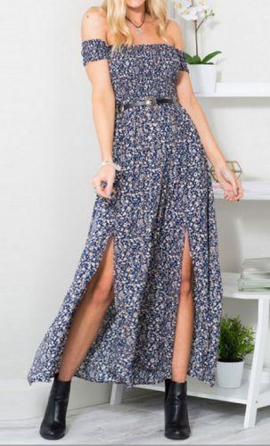 LM moda A Letní šaty modré jemnými letními kvítky