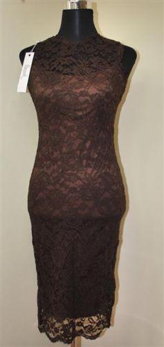 Mayaadi Deluxe A Dámské elegantní krajkové šaty hnědé