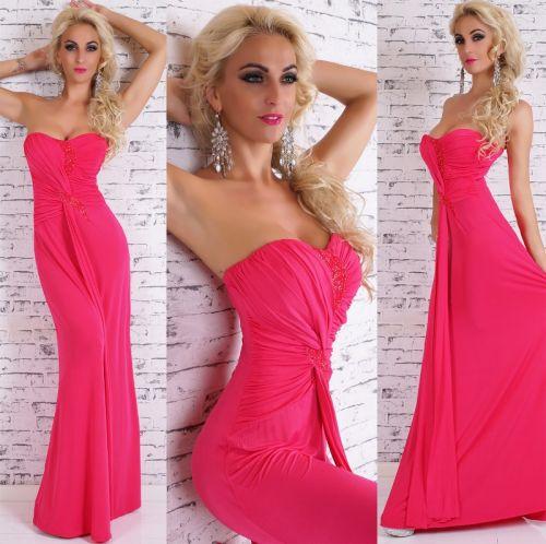 QUEEN O.F. Letní dlouhé šaty růžové
