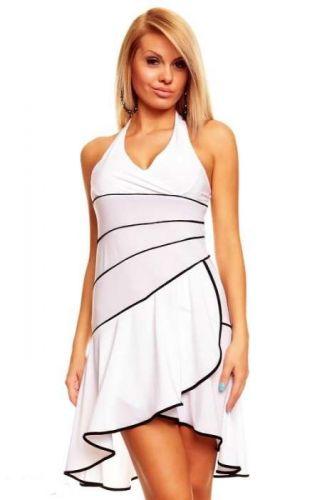 A Mayaadi bílé šaty s volánky
