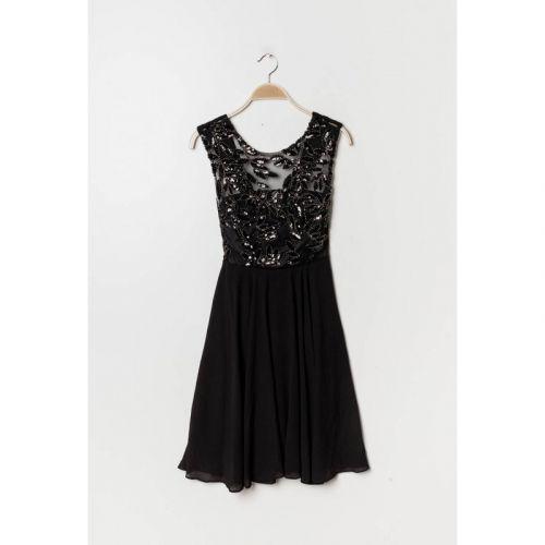 Eva & Lola Dámské černé šaty krátké