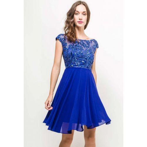 Eva & Lola Dámské modré šaty krátké
