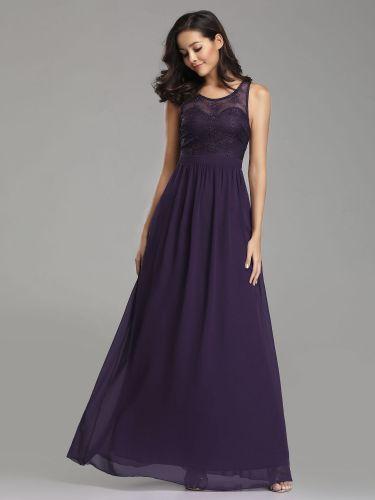 Ever Pretty dlouhé fialové šaty