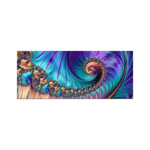 Styler Fractal Violet Skleněný obraz 125x50 cm