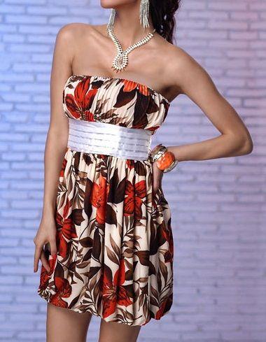 LM moda A Letní šaty s květy světlé