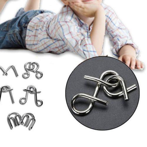No brand Sada osmi kovových hlavolamů pro děti i dospělé