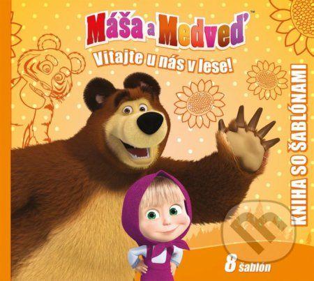 Máša a medveď - Kniha šablón cena od 209 Kč