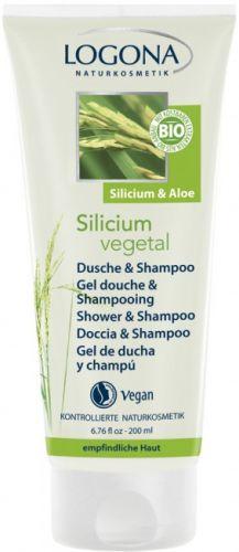 Logona Silicium Vegetal sprchový gel a šampon 200 ml cena od 276 Kč