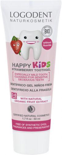 Logona Happy Kids zubní gel jahoda 50 ml cena od 79 Kč