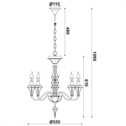 Aca Lighting EG168205PW cena od 2844 Kč
