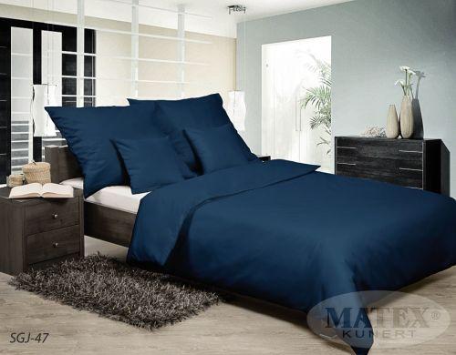 MATEX Satyna Gold tmavě modré bavlněné povlečení