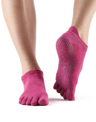 ToeSox Fulltoe Low Rise Raspberry ponožky