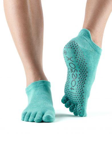 ToeSox Fulltoe Low Rise Grip Aqua ponožky