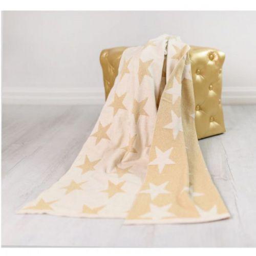 BIZZI GROWIN zlaté hvězdy deka
