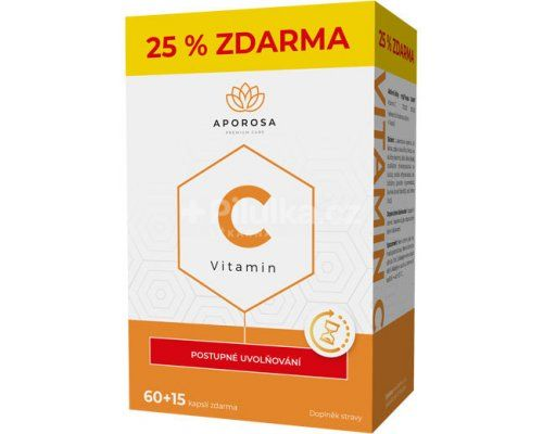 APOROSA Vitamin C 700mg s postupným uvolňování 75 kapslí