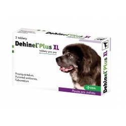 Krka Dehinel Plus XL Tablety pro psy 2 tablety