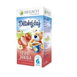 Megafyt Dětský ovocný čaj s příchutí lesní jahody porcovaný čaj 20 x 2 g