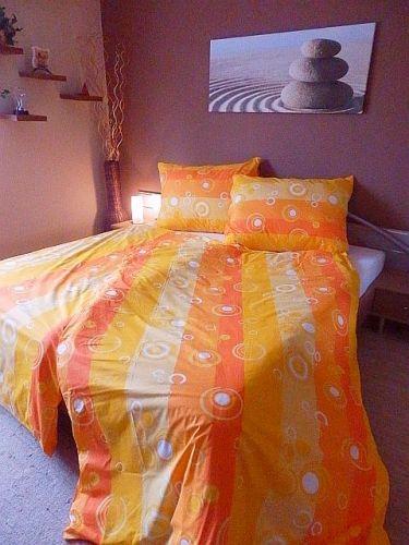 Písecké lůžkoviny Bublina oranžové krepové povlečení