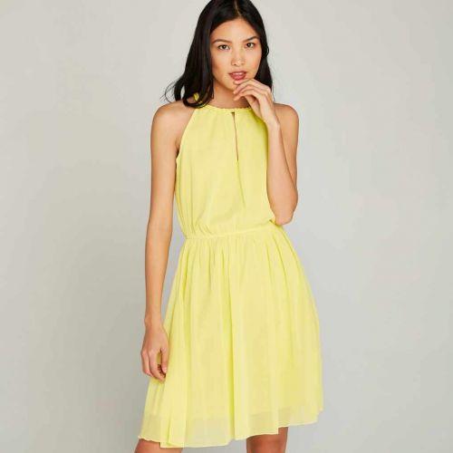 Apricot Braided Neckline šaty
