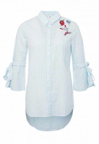 Sublevel pruhovaná košile s výšivkou