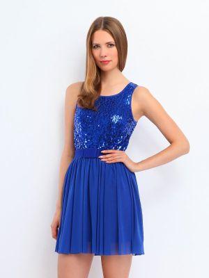Top Secret modré šaty s flitry