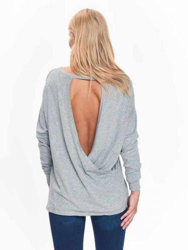 Top Secret slabý svetr s výstřihem na zádech