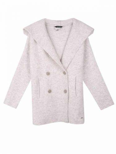 Top Secret pletený kabát s kapucí