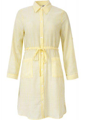 Mismash košilové šaty s proužkem