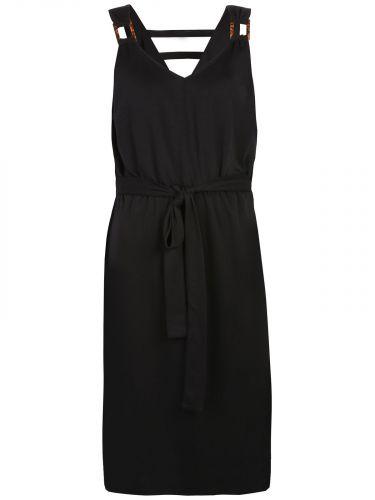 Top Secret šaty s vázačkou a odhalenými zády