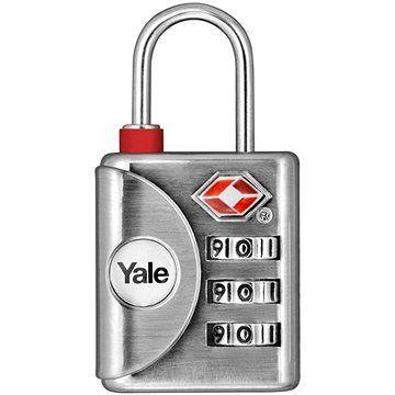 YALE VISACÍ ZÁMEK YTP1/32/119/1 s TSA, stříbrný cena od 190 Kč