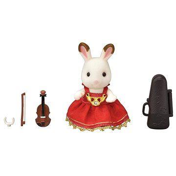 Olymptoy Sylvanian Families Město - houslistka chocolate králík