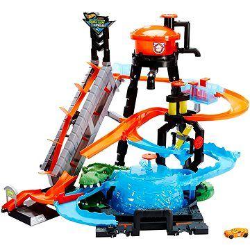 Mattel Hot Wheels City Ultimátní Automyčka s aligátorem
