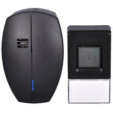 Solight bezdrátový zvonek, do zásuvky, 120m, černý, learning code (1L56B)