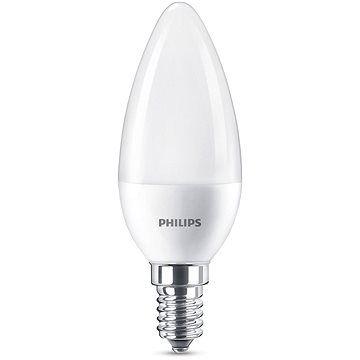 Philips LED svíčka 7-60W, E14, Matná, 2700K