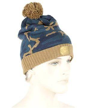 RidgeMonkey - Kulich Camo Bobble Hat Hnědo-modrý