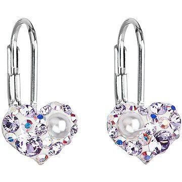 EVOLUTION GROUP 31125.9 violet náušnice dekorované krystaly Swarovski® (925/1000, 1 g) cena od 598 Kč