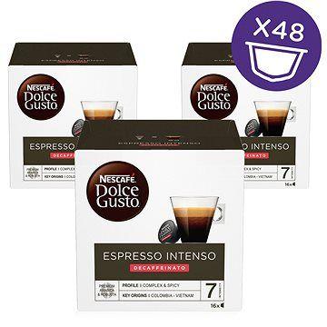 NESCAFÉ Dolce Gusto Espresso Intenso Decaffeinato, 3 balení