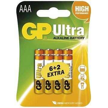GP Ultra LR03 (AAA) 6+2ks v blistru