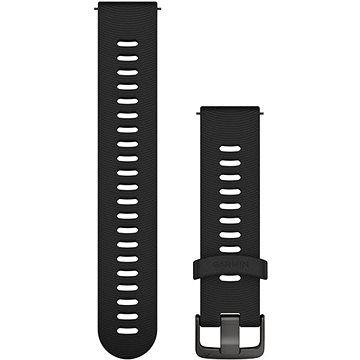 Garmin Quick Release 20 silikonový černý (tmavá přezka)